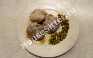Шарики из мяса в чесночно-сливочном соусе