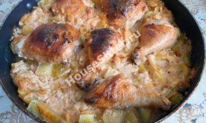 Окорочок запеченный «Пикантный » с картофелем