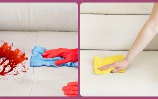 Отмываем кровь с дивана – 10 способов