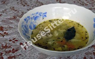 Суп из чеснока с добавлением клецок