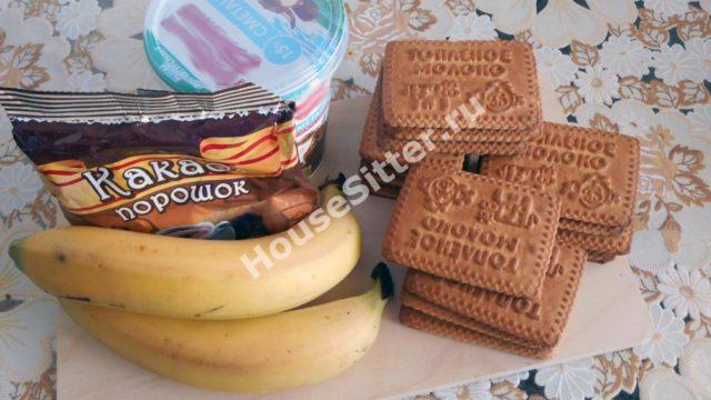 Ингредиенты для бананового торта