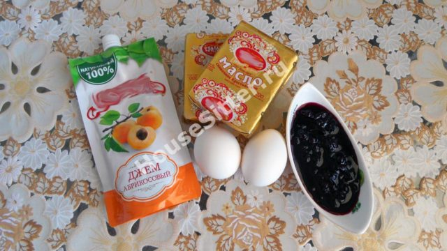 Джем, варенье, яйца, масло
