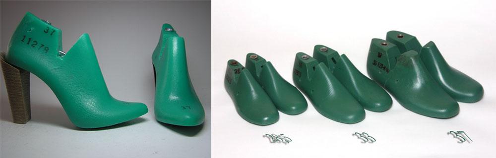 Зеленые обувные колодки