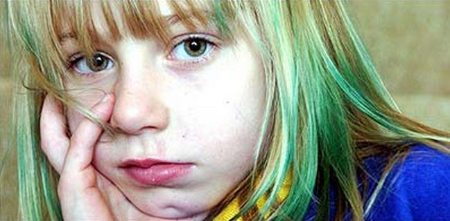 Зеленка на волосах