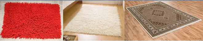 Различные типы ковров