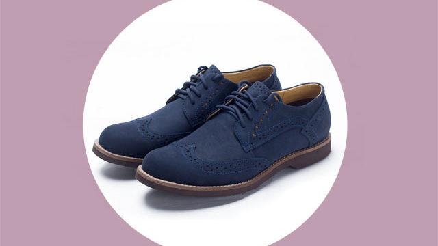 Замшевые ботинки синего цвета