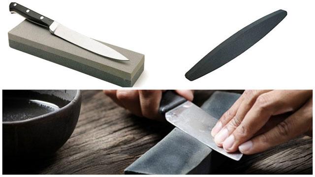 как точить нож с помощью бруска