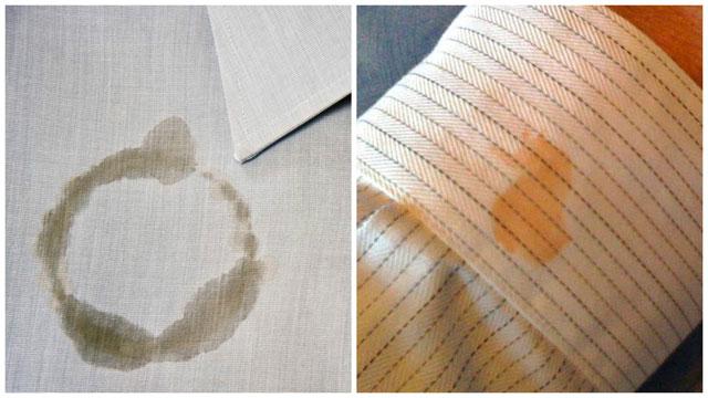 Коллаж жирное пятно на рубашке и рукаве