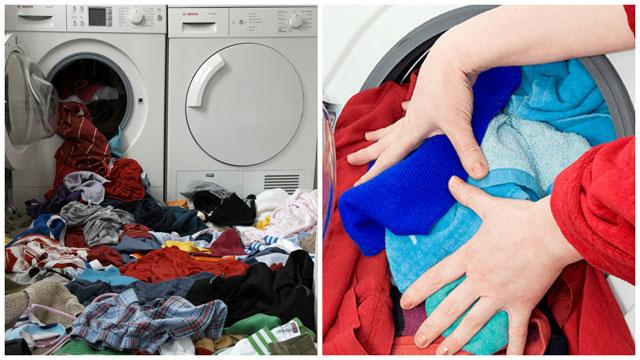 Перегруз белья в стиральной машине