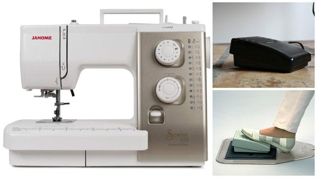 Электромеханическая швейная машинка с педалью