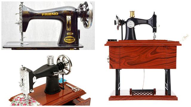 Коллаж механическая швейная машинка