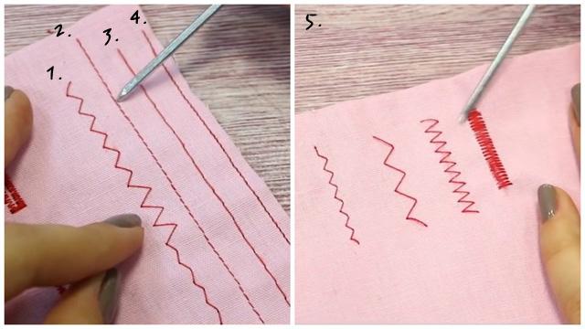 Необходимые виды строчек на швейной машинке