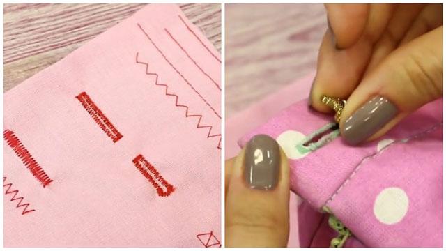 Петля сделанная с помощью швейной машинки