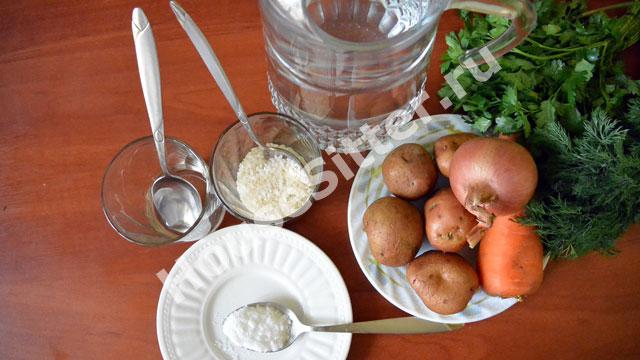 Ингредиенты для рисового супа