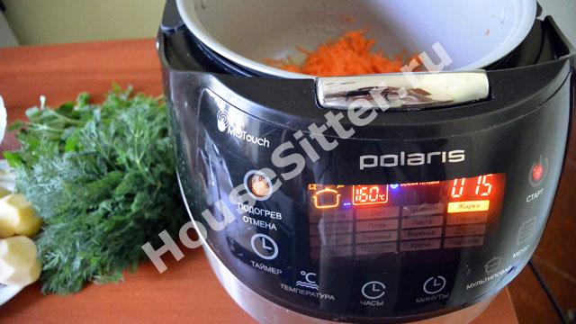 Масло и морковь в мультиварке