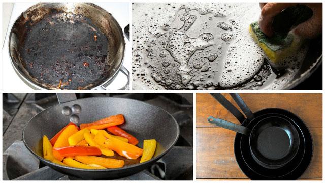 Фотоколлаж грязная и чистая посуда, приготовление пищи