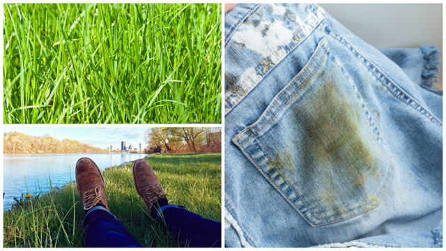 Посидел на траве - испачкал джинсы