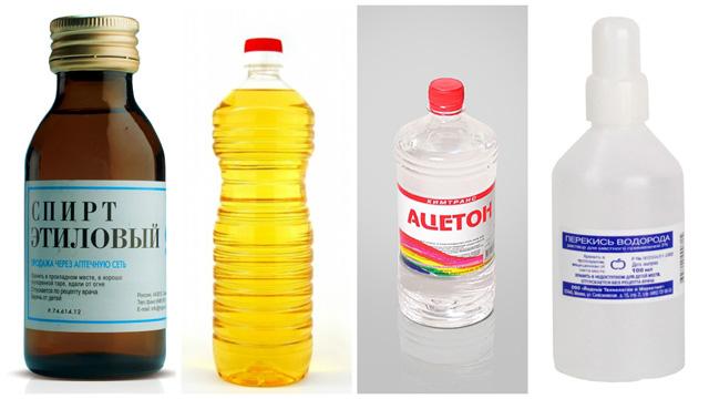 Спирт масло ацетон перекись