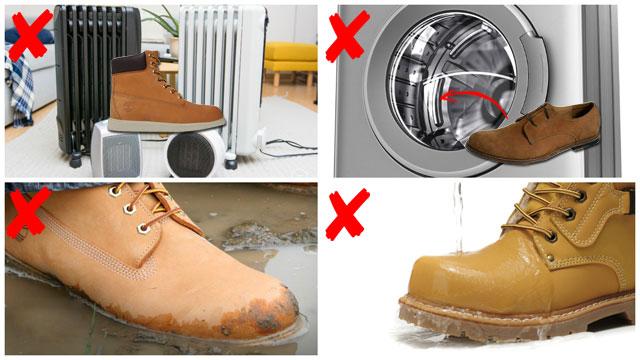 Что не нужно делать с ботинками