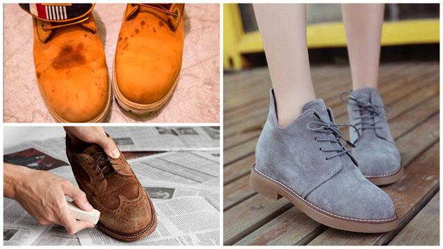 Мужские грязные и женские чистые ботинки
