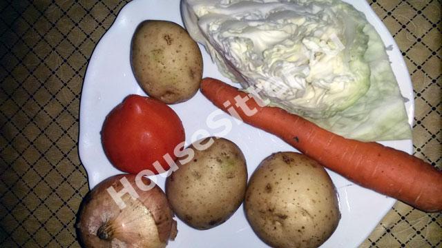 Картошка, лук, морковь, капуста
