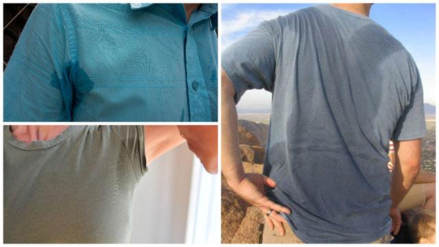Влажные наряды от пота