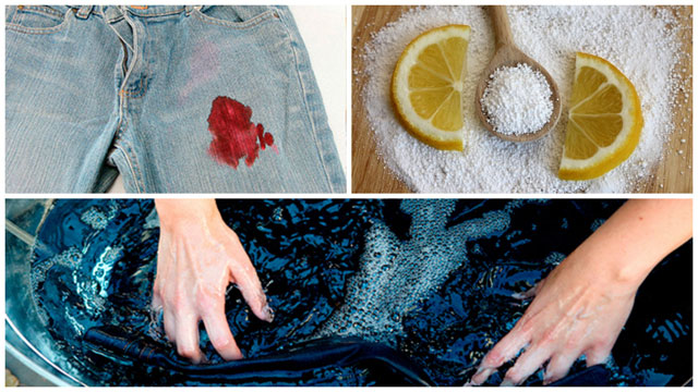 Фото-коллаж застирывание джинс с лимонкой