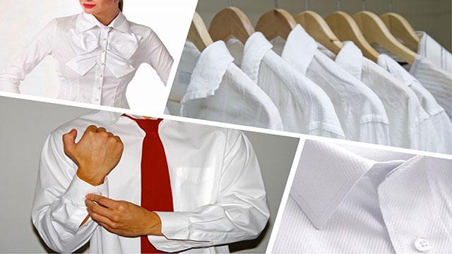 Белые рубашки мужские и женские