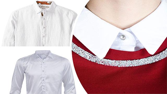 Белый воротник на рубашке