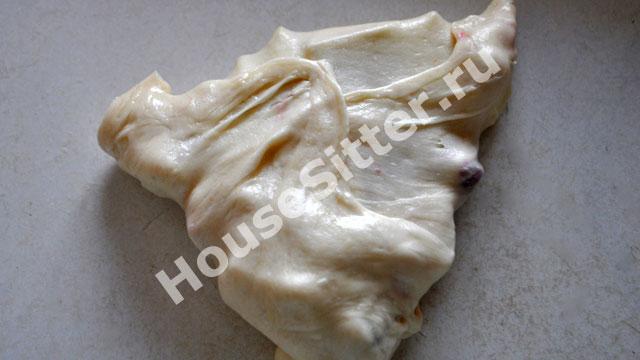 Заворачиваем тесто в третий слой
