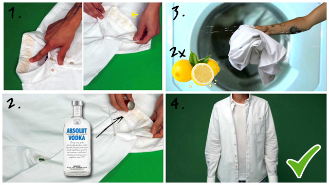 Водка и лимон для отбеливания