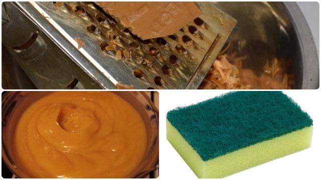 Измельчаем хозяйственное мыло на тёрке