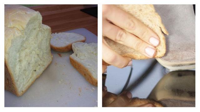 Чистим замшу мякишем белого хлеба