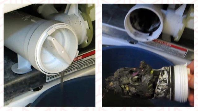 Чистим сливной фильтр от мусора