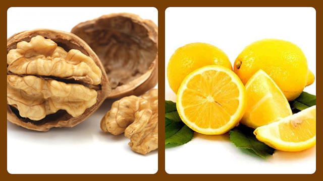 Грецкий орех и лимон