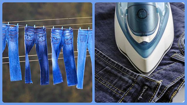 Сушим и гладим джинсы
