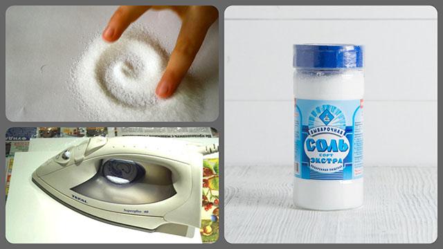Пищевая соль и утюг