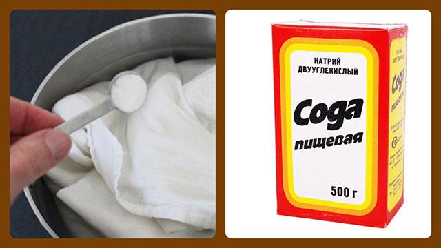 Сода и кипячение белья
