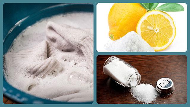 Лимон, соль, белое бельё