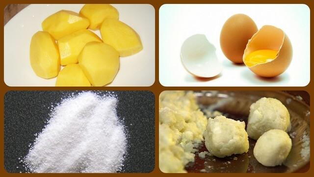 Картофель, яйцо, шарики отравы
