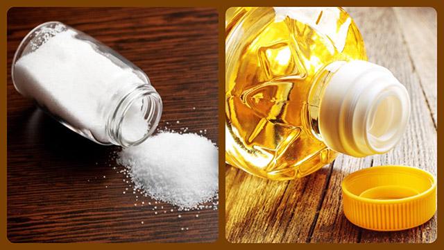 Соль и растительное масло