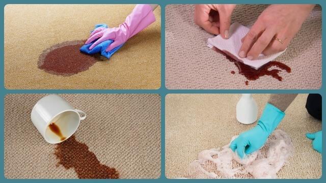 Пятно на полу от чая, кофе или вина