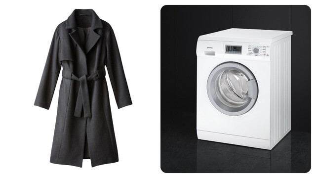 Пальто и стиральная машина