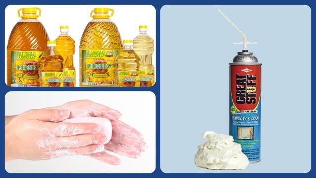 Растительное масло, мыло, баллончик