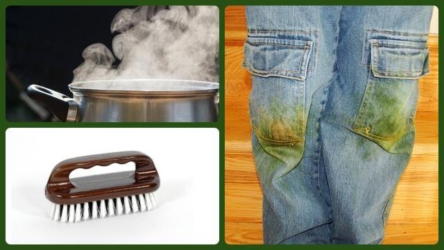 Кипяток, щётка, грязные джинсы