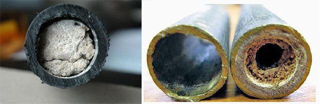 Отложение солей в канализационных трубах