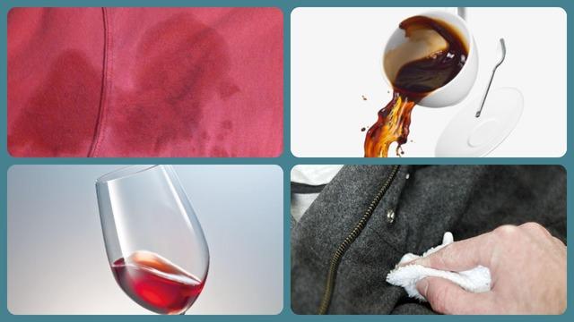 Пятна от вина и кофе